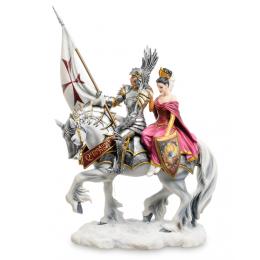 """Статуэтка Veronese """"Рыцарь и его Дама сердца"""" (Р.Томпсон) (color)"""