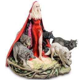 "Статуэтка Veronese в стиле Фэнтези ""Девушка и волки"" (Р.Томпсон) (color)"