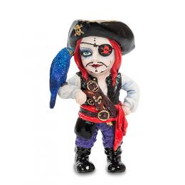 """Статуэтка Veronese в стиле Фэнтези """"Капитан пиратов и его попугай"""" (color)"""