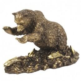"Декоративная статуэтка ""Медвежья рыбалка"", дл.24см"