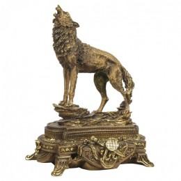 """Декоративная статуэтка """"Поющий волк"""", выс.44см"""