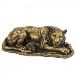 """Декоративная статуэтка """"Спящим тигр"""", дл.28см"""