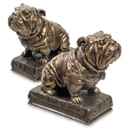 """Держатели для книг Veronese """"Два бульдога"""" (bronze)"""