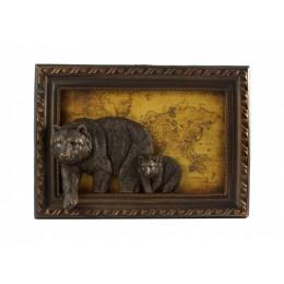 "Картина барельефная ""Медведи"" 39 х 9 х 27 см"
