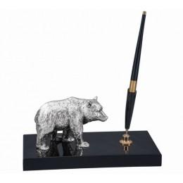 """Настольный набор с ручкой Chinelli """"Медведь"""" 20x9 см"""