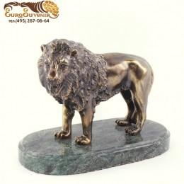 """Статуэтка из бронзы """"Благородный Лев"""" h.14 см"""