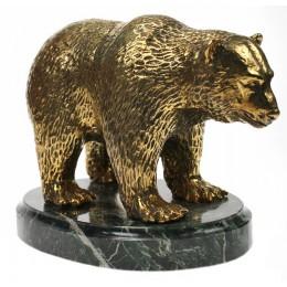 """Статуэтка из бронзы """"Медведь"""" дл.15см"""