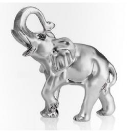 """Статуэтка с посеребрением """"Слон с поднятым хоботом"""", выс.19см"""