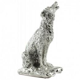 """Статуэтка с серебрением Euro FAR """"Волк"""" h 20 см"""