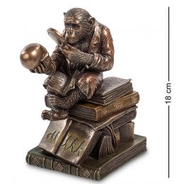 """Статуэтка-шкатулка Veronese """"Обезьяна с черепом"""" (Гуго Рейнгольд) 18см (bronze)"""