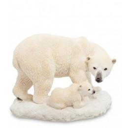 """Статуэтка Veronese """"Белый медведь с детенышем"""" (color)"""