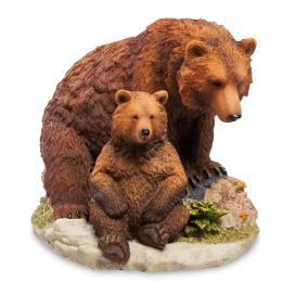 "Статуэтка Veronese ""Бурый медведь с детенышем"" (color)"