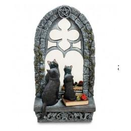 """Статуэтка Veronese """"Кошка с котенком у зеркала"""" (color)"""