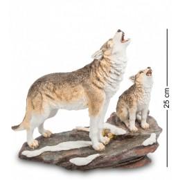"""Статуэтка Veronese """"Волк с детенышем"""" (color)"""