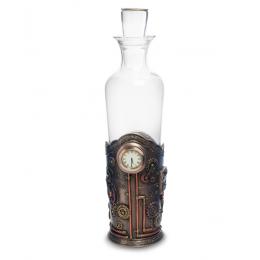 """Декантер в стиле Стимпанк Veronese """"Часы наслаждения"""" (bronze)"""