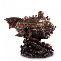 """Шкатулка в стиле Стимпанк Veronese """"Подводная лодка в щупальцах Осьминога"""" (bronze)"""