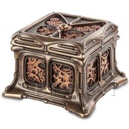 """Шкатулка Veronese в стиле Стимпанк """"Механизм"""" (bronze)"""