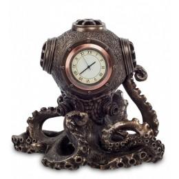 """Статуэтка-часы Veronese в стиле Стимпанк """"Осьминог"""" (bronze)"""