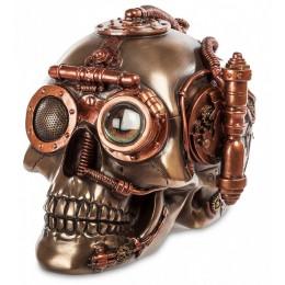 """Статуэтка-шкатулка Veronese в стиле Стимпанк """"Череп"""" (bronze)"""