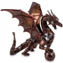 """Статуэтка Veronese в стиле Стимпанк """"Дракон с шаром"""" (bronze)"""