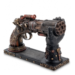 """Статуэтка Veronese в стиле Стимпанк """"Револьвер"""" на подставке (bronze)"""