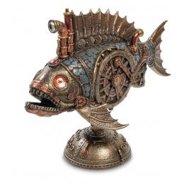 """Статуэтка Veronese в стиле Стимпанк """"Рыба Удильщик"""" с подсветкой (bronze)"""