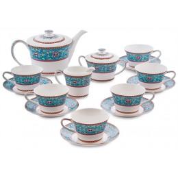 """JK-172 Чайный сервиз 15 пр. на 6 перс. """"Арабески"""" (Arabesca Blue Pavone)"""