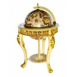 """Глобус-бар напольный """"Венеция """" сфера 45 см, JUFENG"""