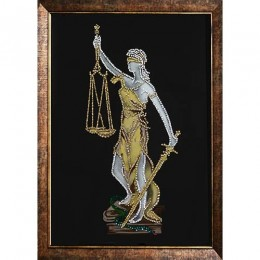 "Картина Swarovski ""Фемида-Богиня правосудия"""