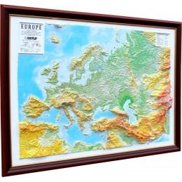 Объемная карта-панорама Европы 1200Х900Х80мм