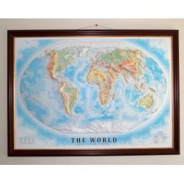 Объемная карта-панорама Мира 1200Х900Х80мм