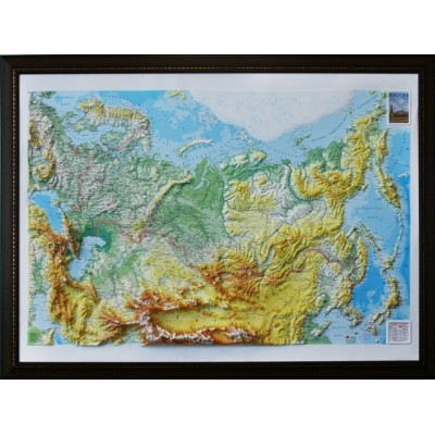 Объемная карта-панорама России 1200Х900Х80мм