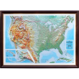 Объемная карта-панорама США 1200Х900Х80мм