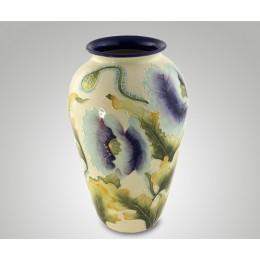 """Декоративная керамическая ваза для цветов """"Небесные цветы"""" выс.30см"""