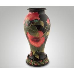 """Декоративная керамическая ваза для цветов """"Хибискус"""" выс.40см"""