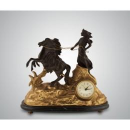 Часы ''Афина'' (бронза/мрамор-черный)