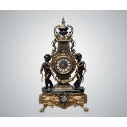 """Каминные часы Lancini """"Ангелы"""" бронза, мрамор"""