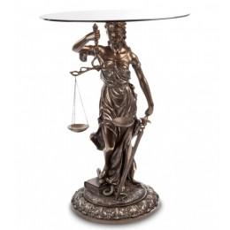 """Столик Veronese """"Богиня Фемида"""" (bronze) WS-651"""