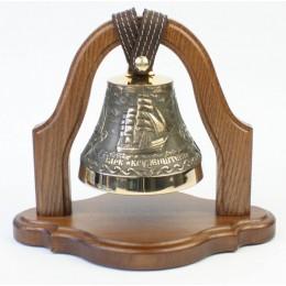 """Колокол бронзовый на подставке """"Крузенштерн"""" d12 см"""