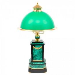 """Настольная лампа из малахита """"Могучая птица"""""""