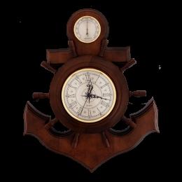 """Метеостанция (часы) """"Якорь"""" ( D часов 180 мм, D гигрометра 90 мм)"""