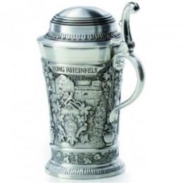 """Подарочная миникружка для водки из олова """"Burg Reinfals"""" выс.8,5см"""