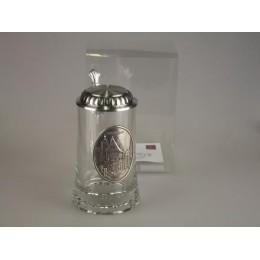 """Подарочная пивная кружка с крышкой из олова """"Rothenburg"""""""