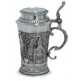 """Подарочная пивная кружка с крышкой из олова """"Stiftskirche"""""""