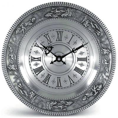 """Декоративные настенные часы из олова """"Jennerwein"""" d26см"""