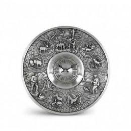 """Декоративные настенные часы из олова """"FREISCHUETZ"""" d24см"""