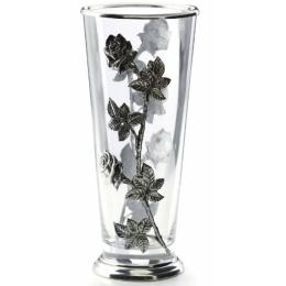 """Декоративная ваза с оловянным декором """"ROSE"""" выс.32см"""