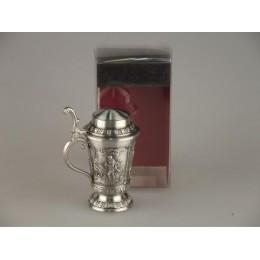 """Декоративная водочная мини-кружка из олова """"Freischutz"""""""
