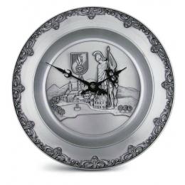 """Декоративные настенные часы из олова """"St.Florian"""" d.23см"""