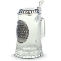 """Коллекционная пивная кружка с оловянным декором """"Heidelberg"""" выс.18см"""